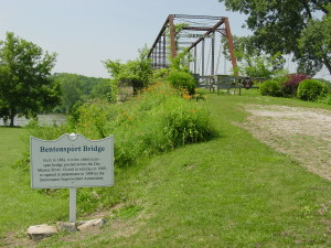 Bridge over the Des Moines River at Bentonsport, Iowa. Photo by Kenneth Mays.