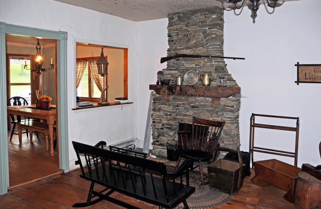 Interior of the Josiah Stowell home, Afton, NY. Photo by Kenneth Mays.