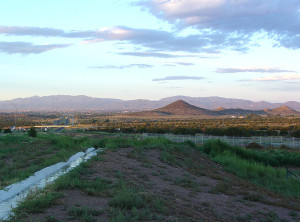 This view shows Santa Fe in the distance looking east. Photo by Kenneth Mays.
