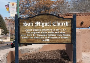 The San Miguel Church was standing when the Mormon Battalion was in Santa Fe. Photo by Kenneth Mays.