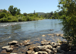 American River near the Rrebuilt Sutter's Mill, Coloma, California. Photo by Kenneth Mays.