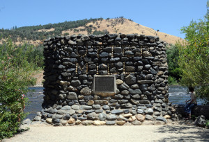 Historical marker at the site of Sutter's Mill, Coloma, California. Photo by Kenneth Mays.