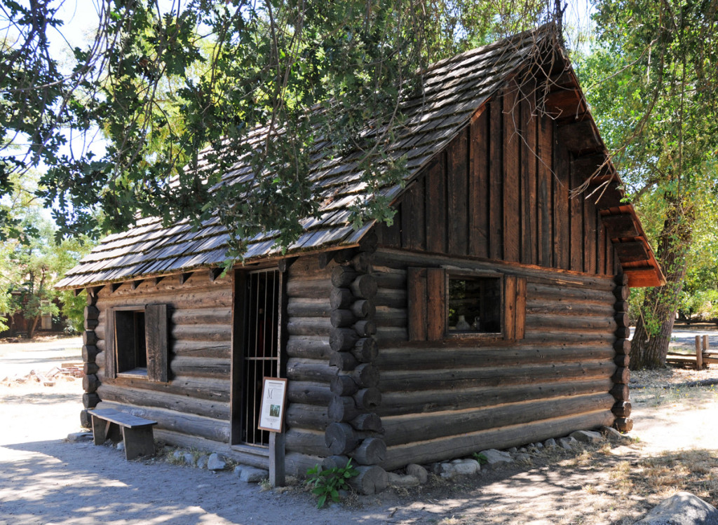 "Rebuilt ""Mormon Cabin"" at the site of Sutter's Mill, Coloma, California. Photo by Kenneth Mays."