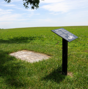 Historical marker at the site of Wyoming, Nebraska. Photo by Kenneth Mays.