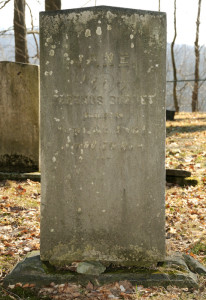 Headstone of Serenes Burnett, Orange, Ohio. Photo by Kenneth Mays.