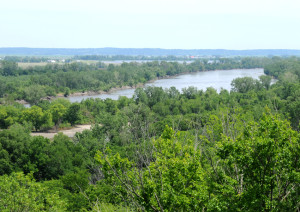 Missouri River near the site of Wyoming, Nebraska. Photo by Kenneth Mays.