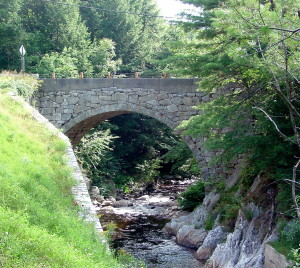 Stone bridge near Gilsum, New Hampshire. Photo by Kenneth Mays.
