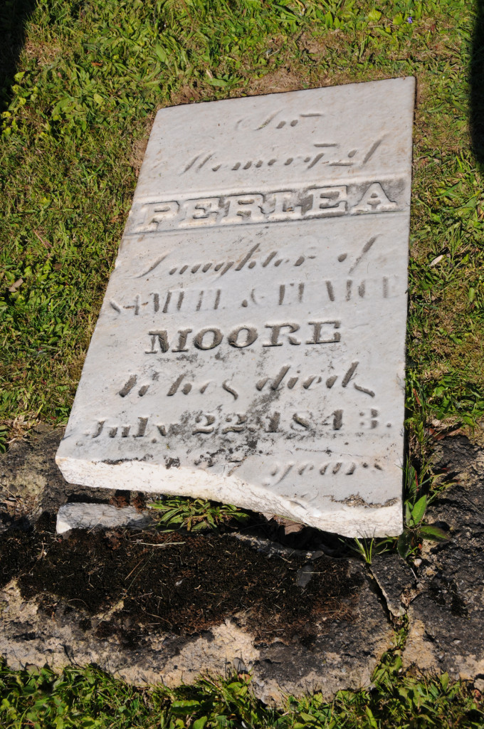 Headstone of Perlea Moore