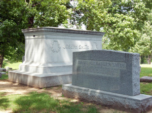 Graves of Joseph Smith III and Israel Alexander Smith, Mound Grove Cemetery. Photo by Kenneth Mays.