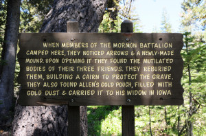 Historical sign near Tragedy Spring. Photo (2010) by Kenneth Mays.