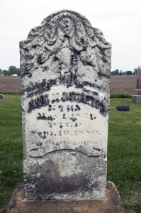 Julia Murdock Middleton grave, Nauvoo, IL. Photo by Kenneth Mays.
