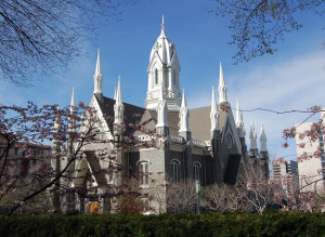The Assembly Hall on Temple Square. Photo by Kenneth Mays.