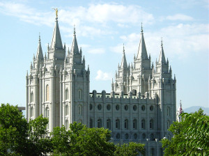 Salt Lake Temple. Photo by Kenneth Mays.