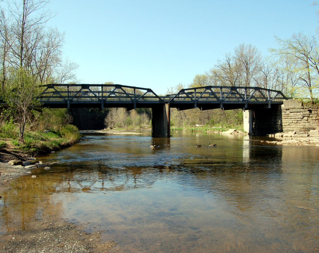 Bridge over the Vermilion River, Lorain County, OH. Photo by Kenneth Mays.