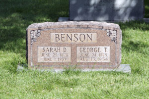 Graves of George and Sarah Benson, parents of Ezra Taft Benson. Photo by Kenneth Mays.