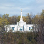 Palmyra, New York Temple as seen from the Smith farm. Photo by Kenneth Mays.