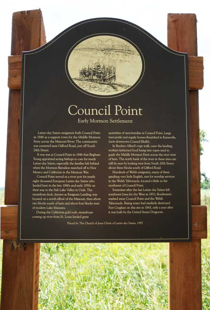 Historical marker interpreting Council Point. Photo by Kenneth Mays.