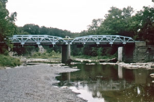 Bridge over the Vermilion River. Photo (1989) by Kenneth Mays.
