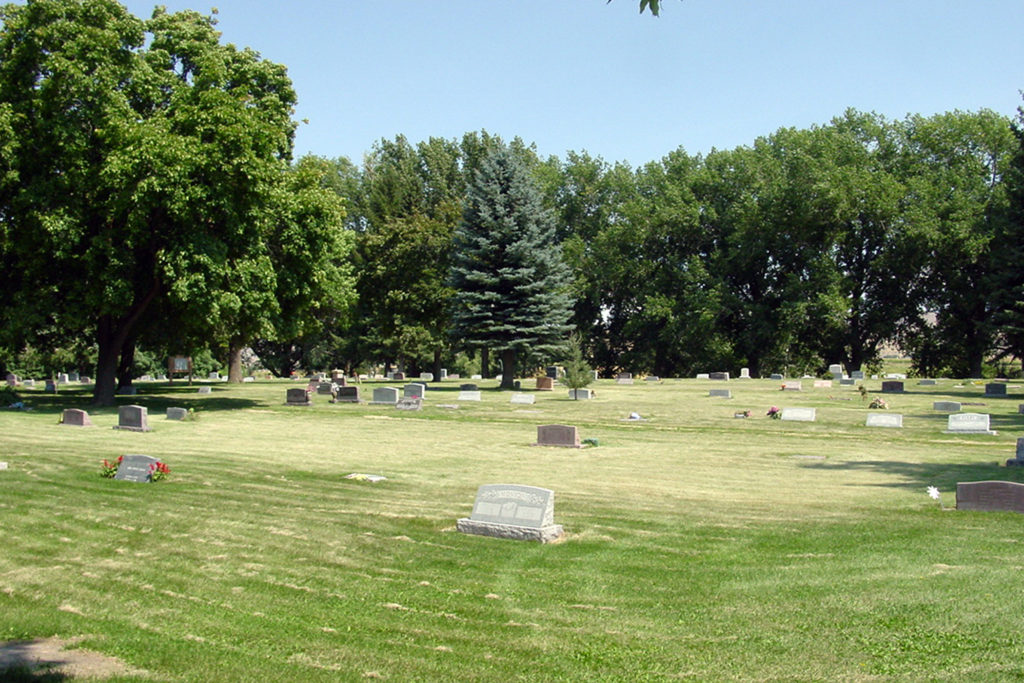 Cemetery at Whitney, Idaho where President Ezra Taft Benson is buried. Photo by Kenneth Mays.