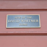 Marker identifying the David Whitmer Richmond, MO home site. Photo by Kenneth Mays.