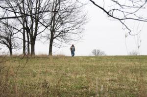 Missouri Scholar, Alex Baugh, researches the Michael Arthur farm. Photo by Kenneth Mays.