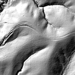 Figure 7, Trail Ruts visible on LiDAR: Courtesy Office of the State Archaeologist, The University of Iowa