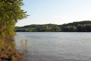 "The Illinois River and the ""Zelph Mound."" Photo by Kenneth Mays."