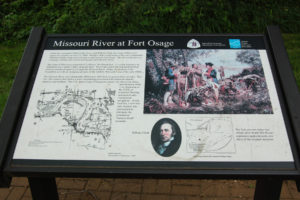 Interpretive panel at Fort Osage. Photo by Kenneth Mays.