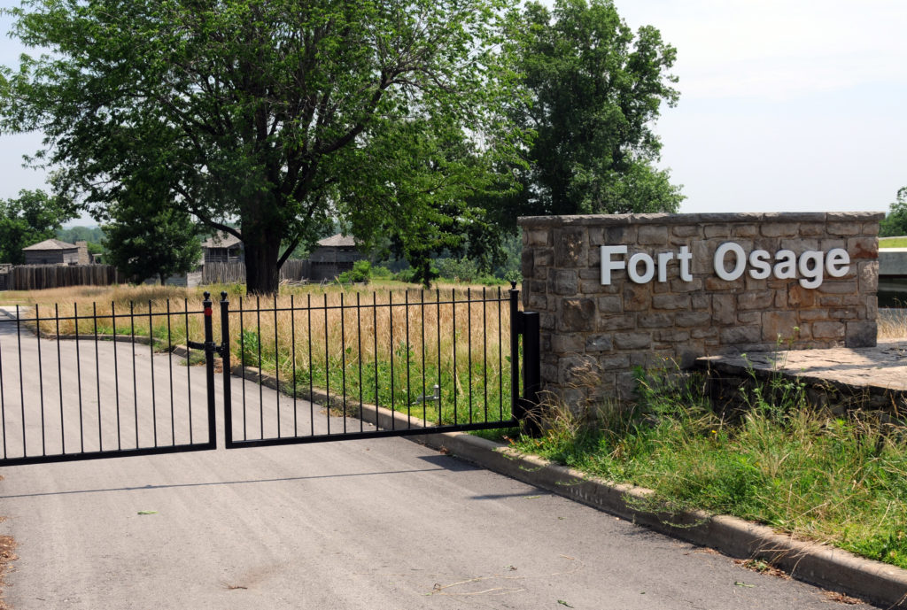Gate to Fort Osage. Photo by Kenneth Mays.