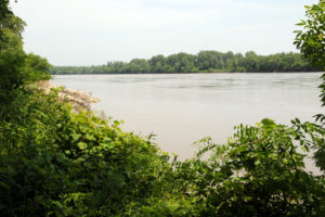 Missouri River as seen from Fort Osage. Photo by Kenneth Mays.