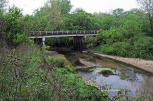 Sugar Creek where County Road J72 crosses it.